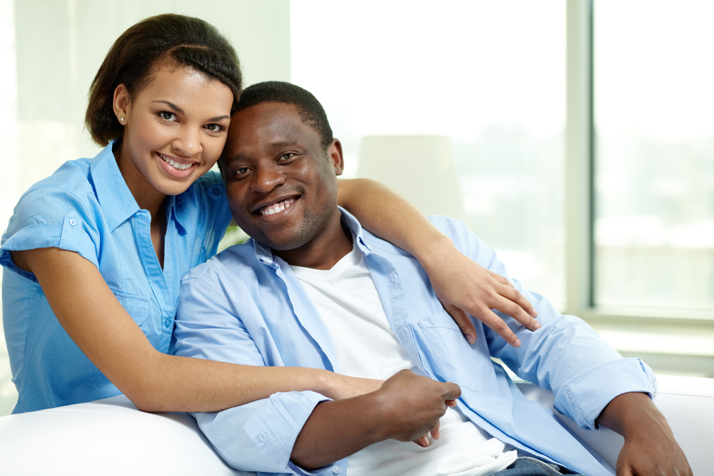 Black couple, happy couple